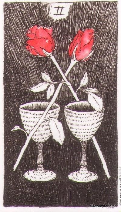 Двойка Кубков (Two of Cups)